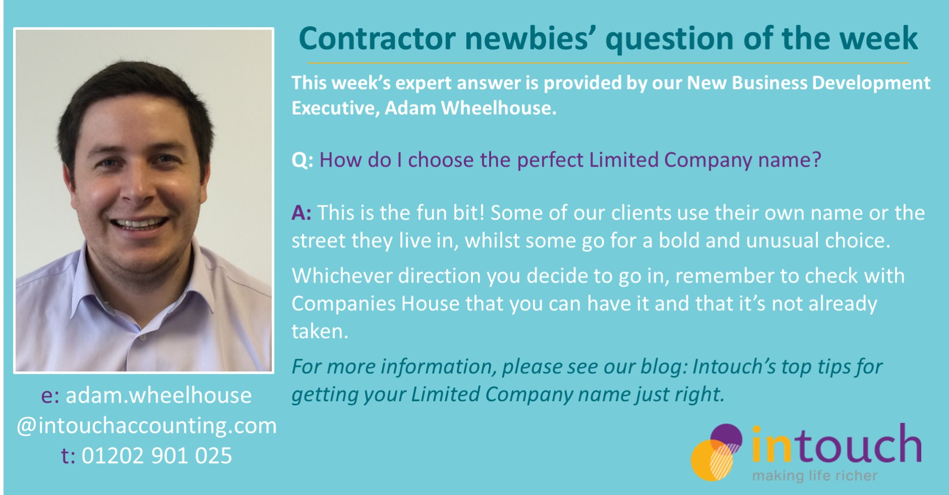 Adam - How do I choose the perfect Limited Company name